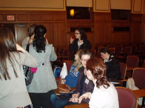 Mingling with the prefrosh - it was awesome meeting you all!